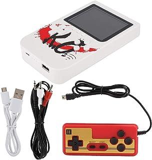 Oumij1 Jeu Rétro Portable Mini Console de Jeu Portable Rétro 10000mAh Power Bank avec Gamepad 400 Jeux(Blanc)