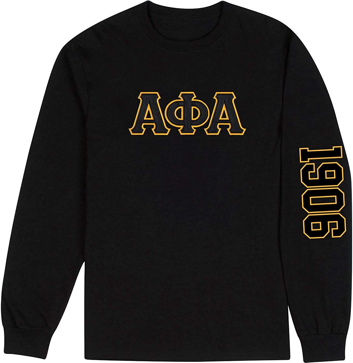 Fashion Product Arlington Mall Greek Alpha Phi Embroidered Long Twill 1906 Letter