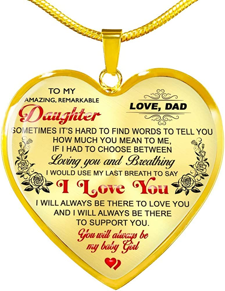 Fa Gifts to My Daughter Necklaces Max 83% OFF Nashville-Davidson Mall Pendants Lu from - Daddy Gift