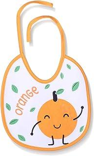 Lumex Orange Patterned Bib with Drawstring for Kids