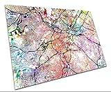 Central Sheffield Street Map Kunstdruck, Aquarell-Poster,
