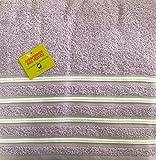 Juegos toallas 3 piezas 100%algodon calidad 600 gramos babychispitas. (Lila...