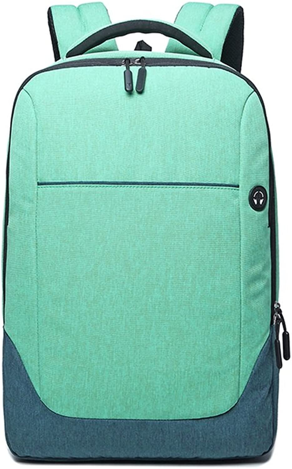 CJH Leisure Travel College Students Backpack Female Computer Bag Fashion Trend Campus Bag Male Green