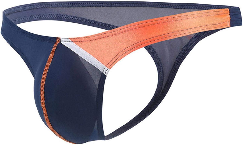 LIUguoo Men's Ice Silk Underwear Sexy T-Back Thong Bikini Briefs G-String Elastic Waistband Breathable Thong