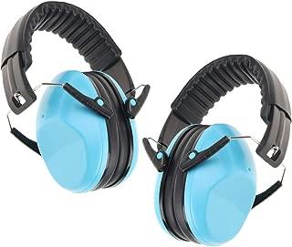 2 Packs Portable Kids Earmuffs Hearing Protectors Adjustable Headband Ear Defenders for Kids Children Boys and Girls