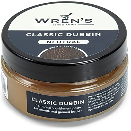 Wren's Old Dubbin Classic, traditional nourishment and waterproofing grease paste for smooth, grained and oiled leather, quality and prestige since 1889, 100 ml