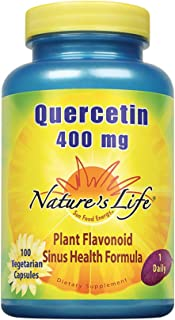 Nature's Life Quercetin 400mg | May Support Healthy Cells, Immune & Cardiovascular Functions & Healthy Sinuses | 100 Veget...