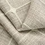 QZXCD curtainNew Japan Style Thick Faux Linen Square Jacquard Modern Curtains For Living Room Bedroom Kitchen Window Curtains Blinds 1 Pair W350cmxL250cm Color 02 Curtain