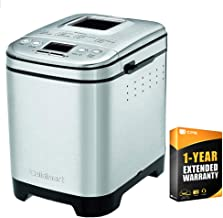 Cuisinart CBK-110 Compact Automatic Bread Maker, Silver + 1 Year Extended Warranty