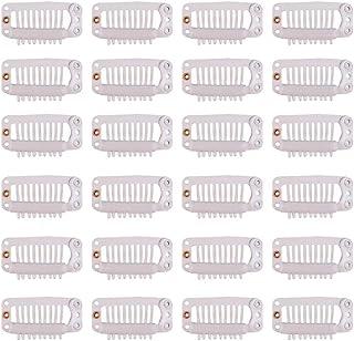 24 pcs/lot 32mm 9-teeth Hair Extension Clips Snap Comb Clips Metal Clips Wig Clips Hair Clips for Wigs Hair Extensions Hai...
