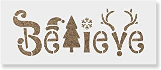 Believe Christmas Stencil - DIY Stencils That Work Great for Wood Signs and DIY Craft Projects