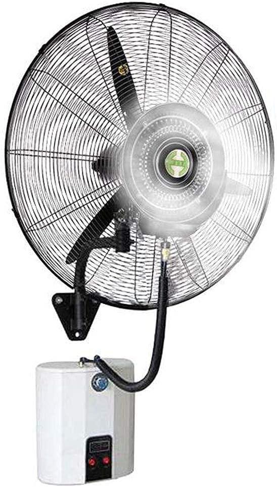 yanzz Ventilador de Alta Resistencia Potentes Ventiladores de bocina de pulverización montados en la Pared, Ventilador de nebulización eléctrico oscilante, humidificador silencioso de enfriamiento