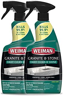 Weiman Disinfectant Granite Daily Clean & Shine – 24 Ounce (2 Pack) Safely..