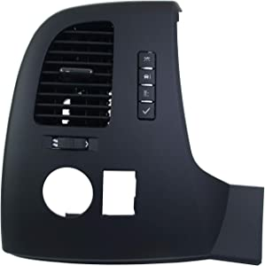 19159438 Driver Information Center Control Panel Air Vent Compatible with Chevrolet Suburban Tahoe Silverado GMC Sierra Yukon XL 1500 2500 3500 HD with 4.3L 4.8L 5.3L 6.2L 6.6L Engins 2007-2013