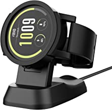 Moko Charger Dock for Ticwatch S/E, Portable Replacement Charging Stand Adapter Station Cradle Holder with USB Cable for Ticwatch S/Ticwatch E Watch, Black