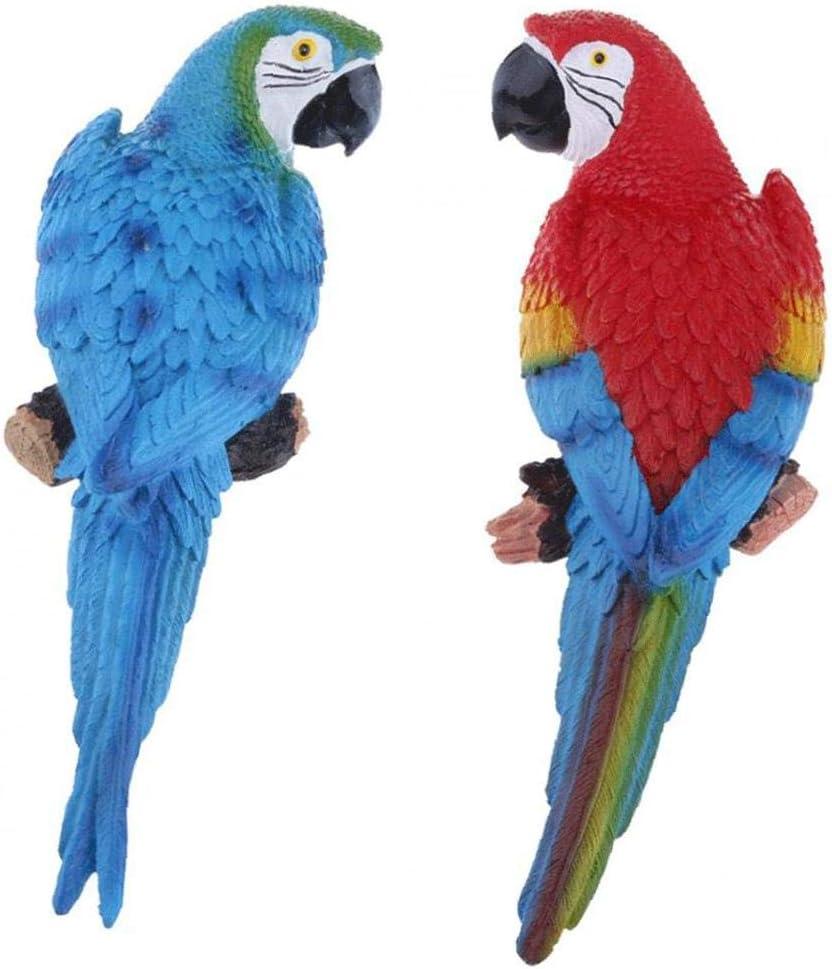 Max 87% OFF EElabper Popular Parrot Wall Sculpture Garden Statues Simulation