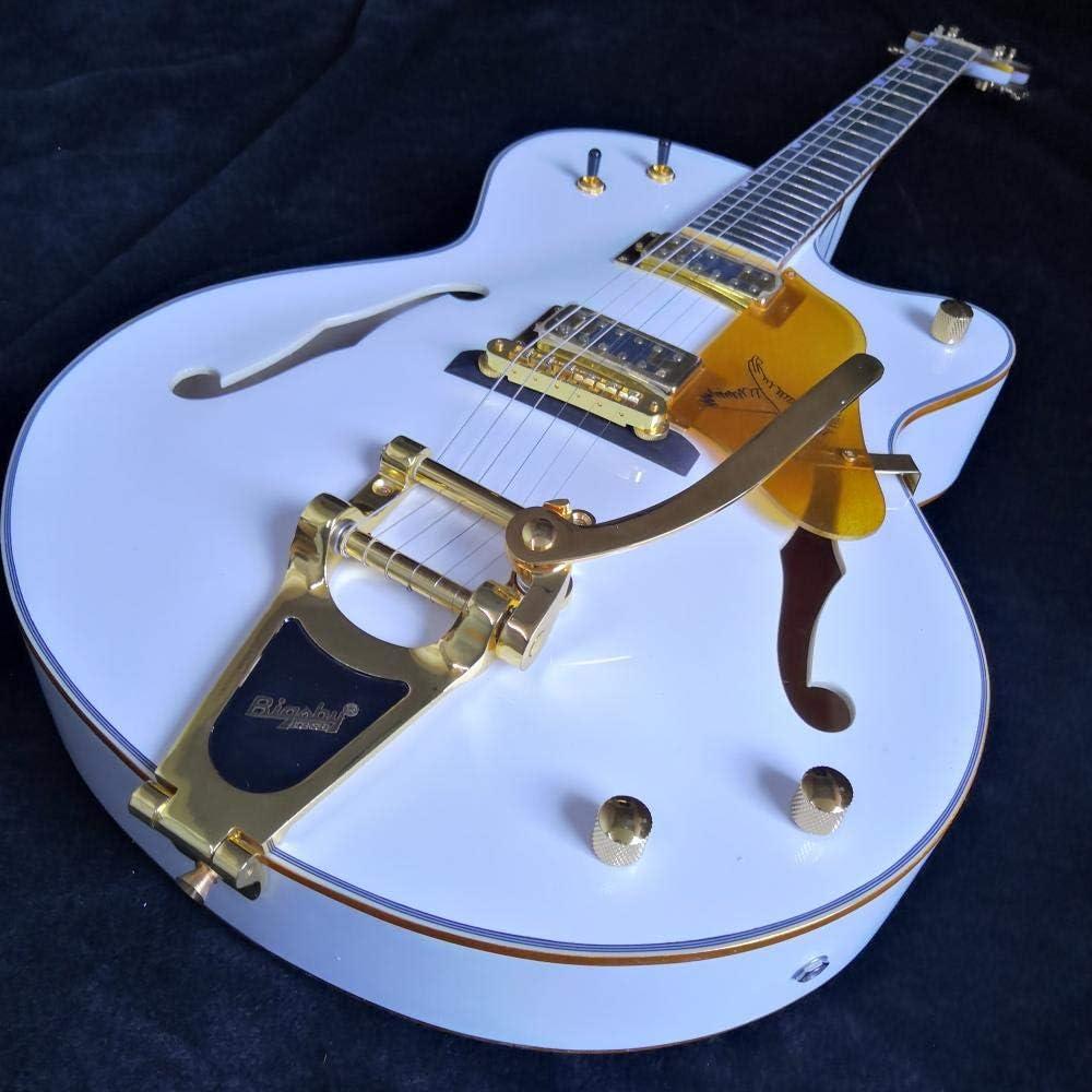 LYNLYN Guitarras Guitarra eléctrica Semi Hueca Cabeza Acero acústico String Guitars Strings de Guitarra Acero acústico Guitarra eléctrica (Size : 39 Inches)