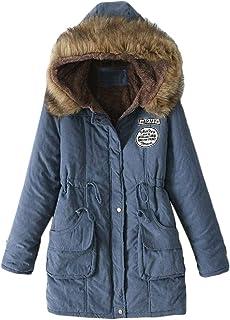 Womens Jacket Oversized Fashion Hooded Fur Collar Wild Anorak Jacket
