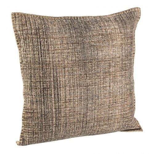 Bizzotto Eden kussen met ritssluiting, overtrek katoen, vulling 100% polyester, afneembaar overtrek, koffie, 50 x 50 x 45 cm