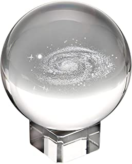 My Crystal Sphere - Milky Way Crystal - 60mm Laser Galaxy Lens Ball with Stand for Christmas and Birthday Gift