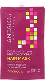 Andalou Naturals 1000 Roses Complex Color Care Deep Conditioning Hair Mask, 1.5 Fluid Ounce - 6 per case.