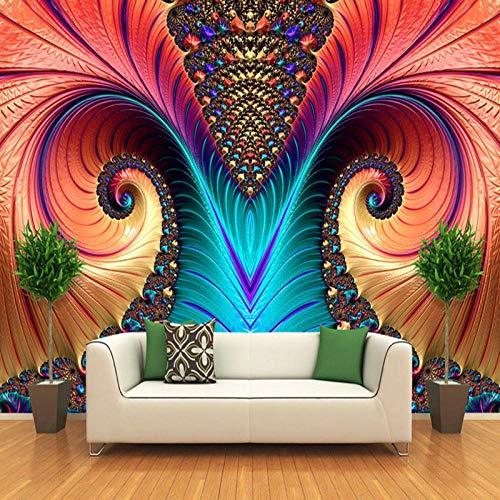XIAOHUKK 3D self-Adhesive Wallpaper Waterproof PVC Vinyl Art Abstract Pattern Color Carved Wallpaper Wall Mural/self-Adhesive Large Wallpaper