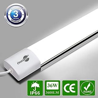 Öuesen Tubo Luz LED 120cm, 36W 3600LM Luz de Techo, Blanco Frío 5000K Lámpara