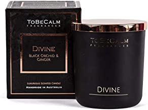 To Be Calm CXXL-DIV Divine, Black Orchid & Ginger, Deluxe XL Soy Candle