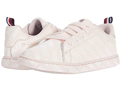 Tommy Hilfiger Kids Iconic Court Logo (Little Kid/Big Kid) (Light Pink/White) Girl