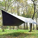 Toldo Camping Hexágono Impermeable Portátil, Impermeable, Refugio para Playa Tienda Hamaca Acampada Refugio Al Aire Libre360cm*280cm,