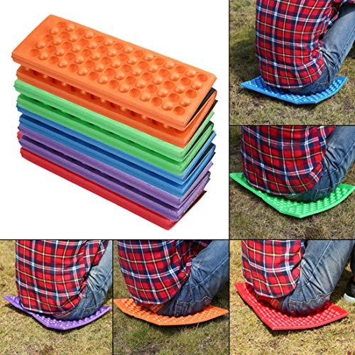 Formulauff - Cojín de Asiento Acolchado de Espuma EVA Impermeable y Resistente a la Humedad al Aire Libre portátil y Ligero para Silla de jardín, Color Azul
