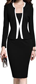 Women's Colorblock Wear to Work Business Party Bodycon One-Piece Dress