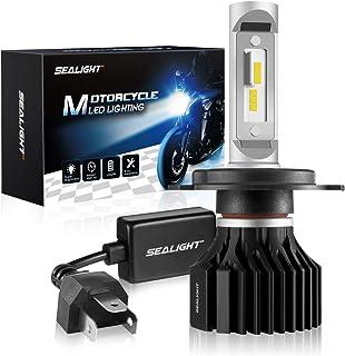 SEALIGHT H4/9003 LED Motorcycle Headlight Bulb, High/Low Beam, 6000K Xenon White