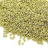 PRECIOSA Beads Unlimited Metallic Tschechische Gold Glas Rocaille/Samen 11/0-pack von 50g