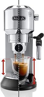 De'longhi Dedica EC685.W - Cafetera de bomba, acero inoxidable, capuccinatore, depósito 1,3 litros, sistema anti-goteo, café molido o monodosis, blanco