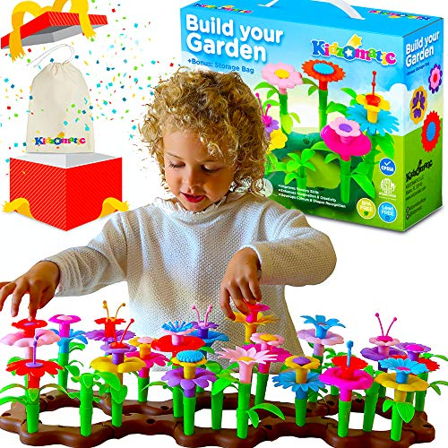 Flower Garden Building Toys for Girls  Kids Flower Garden Toy Set  Build A Garden Stem Toy  Girls Toys Age 36 Year Old  Suitable for Kids 36 Yrs of Age  Educational Toddler Flower Garden Kit