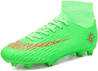 No.66 TOWN Unisex Cleats Couple Style AG Fluorescence Soccer Training TF Sports Shoes for Youth