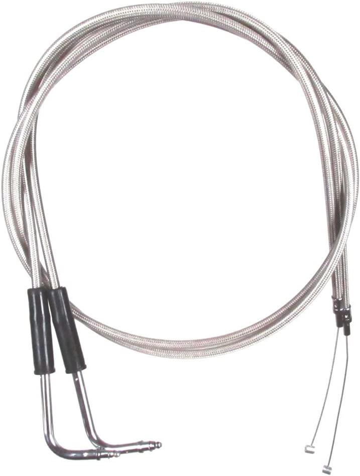 Stainless Braided Throttle Cable Set Sof Newer 2001 for Regular dealer Harley Weekly update