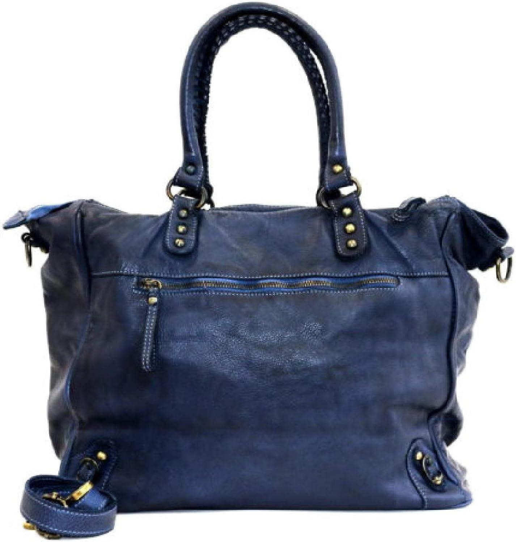 BZNA BZNA BZNA Bag Ella blau  Designer Damen Handtasche Ledertasche Schultertasche Tasche Leder Shopper Neu B07M82LBHM 882745