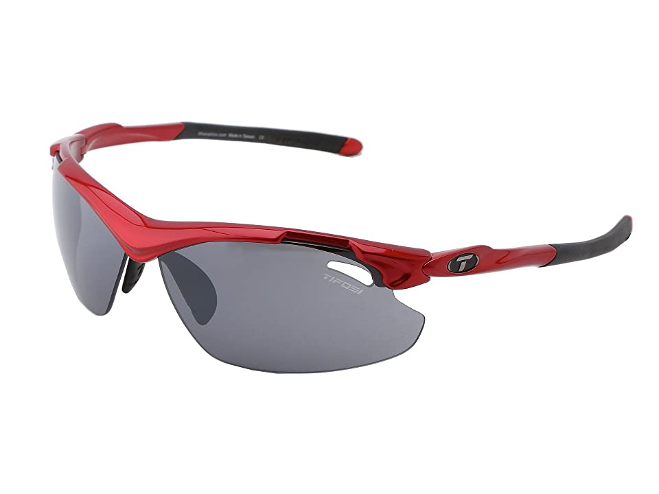 Tifosi Optics Tyranttm 2.0 Interchangeable (Metallic Red/Smoke/AC Red/Clear Lens) Athletic Performance Sport Sunglasses