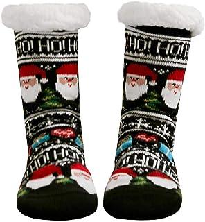 Calcetines de Navidad, Invierno Mujer Gruesos Lana Calcetines Térmicos de Piso Antideslizantes