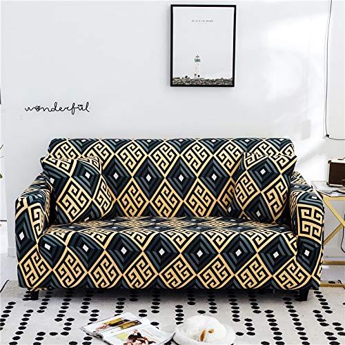 ASCV Fundas de sofá con Estampado Floral para Sala de Estar Funda elástica elástica Fundas de sofá de Esquina seccionales A6 3 plazas