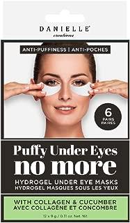 Danielle Puffiness No More Hydrogel Undereye Masks, 6 Pairs, Collagen & Cucumber, 6 Piece