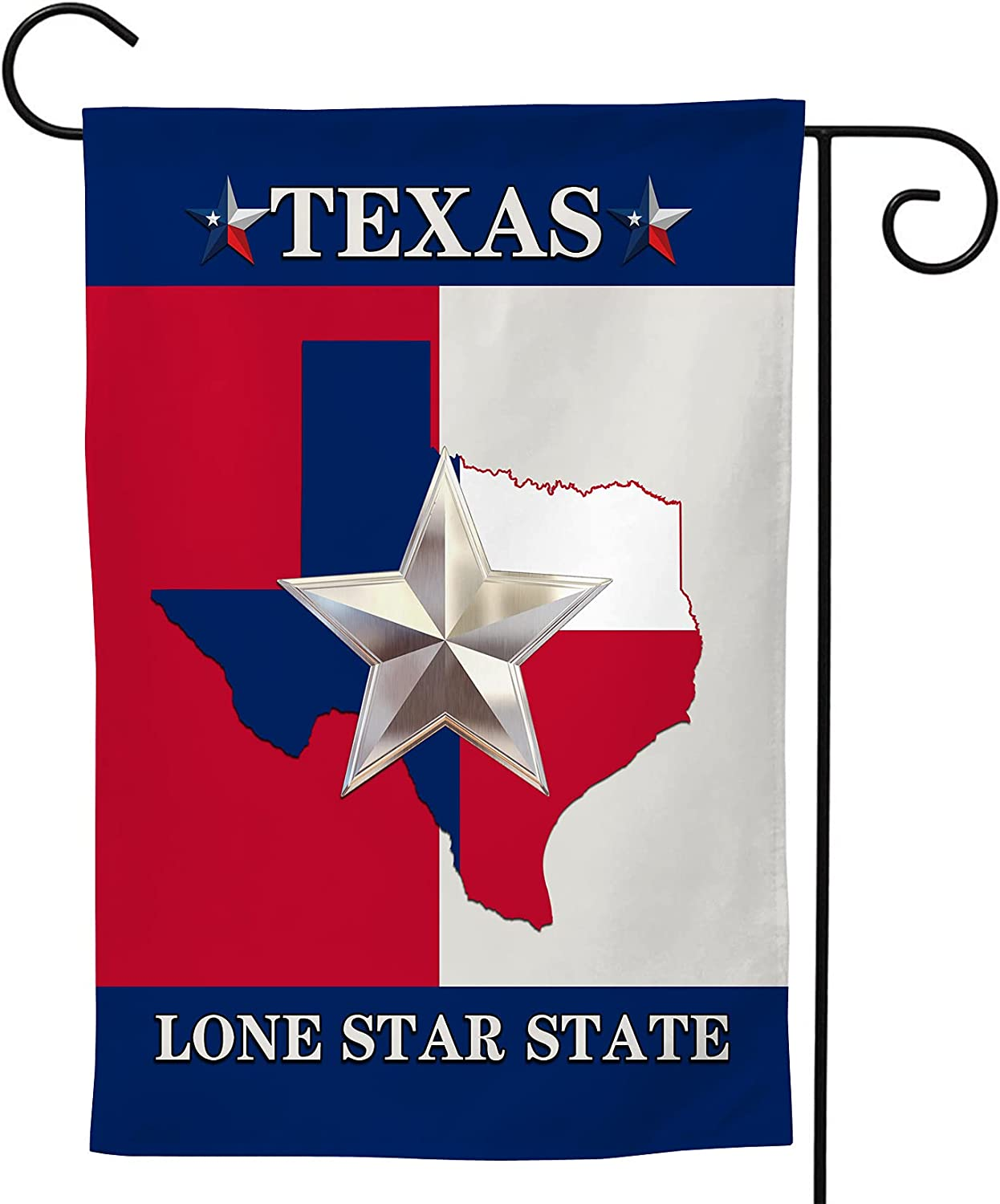 texas lone star state area Welcome Garden Flag, Summer Garden Flag Double Sided Farmhouse Flag for Outside 12.5×18 Inch