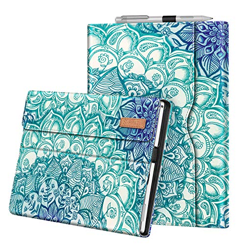 Fintie Case for Microsoft Surface Pro 7 / Pro 6 / Pro 5 / Pro 4 / Pro 3 with Pocket (Z-Emerald Illusions)
