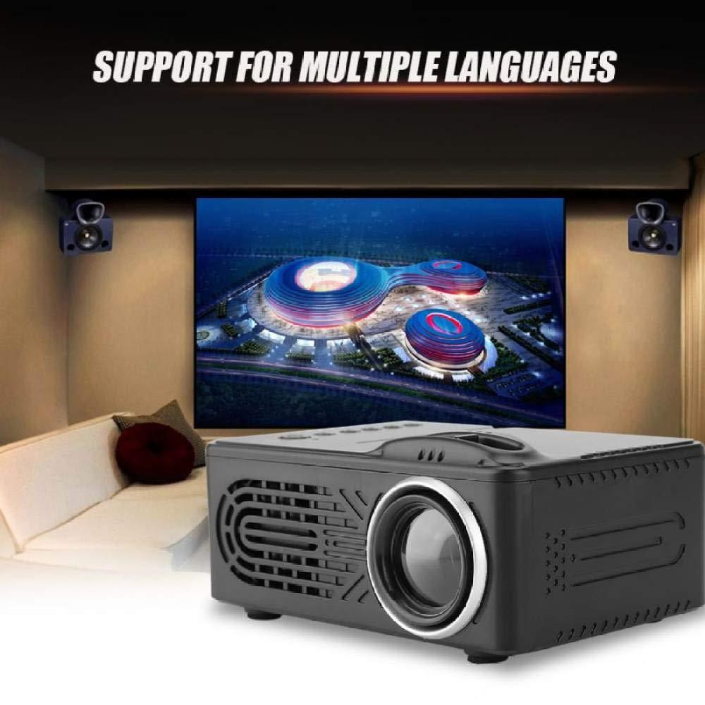 WHLDCD Proyector Mini proyector Digital HD Negro 1080P 100-240V Admite resolución máxima 1920 * 1080, Negro: Amazon.es: Electrónica
