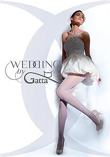 Gatta Wedding Bella Prima 01 20den - elegante Hochzeitsstrumpfhose mit floralem Muster
