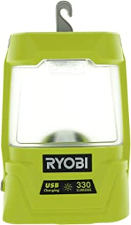 Ryobi P781 One+ 18V Lithium Ion 330 Lumen Cree LED Workshop Area Light w/ USB Phone Charger (Battery Not Included / Power Tool Only)
