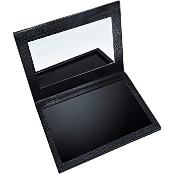 Allwon Magnetic Palette Empty Makeup Palette with Mirror for Eyeshadow Lipstick Blush Powder (Black)