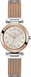 Gc Womens Quartz Watch, Analog Display And Stainless Steel Strap - Y59001L1MF